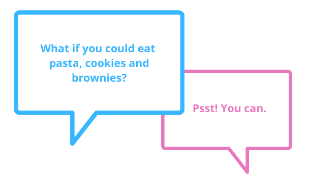 what if you could eat pasta brownies canva